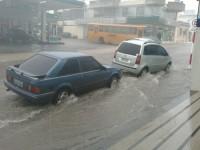 Chuva forte causa alagamentos em Caçapava do Sul