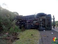 Acidente com caminhão do Exército deixa 10 militares feridos em Caçapava do Sul