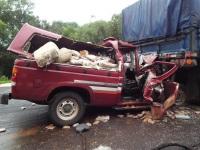 Duas pessoas morrem em acidente de trânsito na BR-392, em Caçapava do Sul