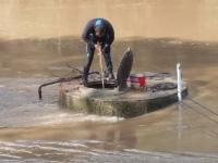 Mergulhadores concluem trabalho e abastecimento de água volta a ser realizado