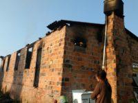 Morador que estava em casa que pegou fogo em Formigueiro segue internado