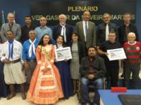 CTG Ronda Crioula e Esporte Clube Amizade recebem homenagens