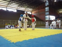 Alunos do Mais Educação e Esporte Cidadão demonstram habilidades no Taekwondo