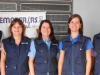 Equipe Emater/RS-Ascar de São Sepé: Guilherme, Claudia, Cleisa, Lílian e Paulo.
