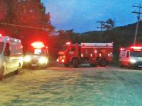 Trote mobiliza três ambulâncias e um caminhão dos Bombeiros em Agudo