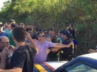 Vídeo: comoção de amigos e familiares somado a tensão quase termina em tumulto na BR-392