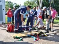 Colisão na Avenida Daia Gazen deixa motociclista ferido