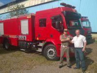 Autoridades anunciam conquista de novo caminhão do Corpo de Bombeiros