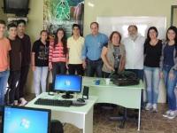 Ex-prefeito João Luiz Vargas visita turma do Jovem Aprendiz Rural
