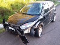 Capotamento: cinto de segurança salva jovens em acidente na BR 392