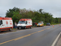 Caminhão colide em carro em estrada entre Restinga Sêca e Santa Maria
