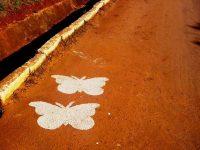 Homenagem: duas borboletas amanheceram no local onde jovens perderam a vida
