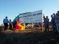 Autoridades descerram placa onde será construída a nova Usina Termelétrica de São Sepé