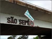 Servidores da segurança pública protestam em São Sepé