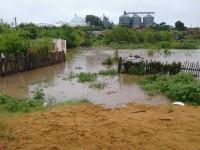 Nível do rio sobe, atinge casas e já deixa desabrigados em São Sepé