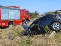 Condutor fica gravemente ferido em acidente na RS-149, em Restinga Sêca