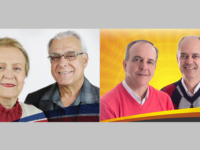 Marlene Mello, Luiz Vilson, Jocelvio Cardoso e Marcelo Motta. Fotos: reprodução