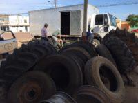 Ação recolhe quase 300 pneus em desuso de borracharias de São Sepé