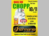 Clube do Comércio tem Baile do Chopp em novembro