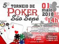 São Sepé sediará 5º torneio de Poker nesta terça-feira