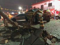 Perseguição termina em acidente e deixa policial ferido em São Sepé