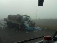 Colisão entre dois caminhões deixa vítima fatal em Tupanciretã