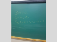 Alunos vão protestar após frase racista ser escrita em sala de aula da UFN