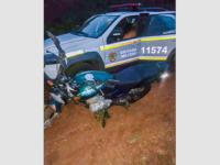 Motocicleta utilizada em assalto a supermercado é localizada