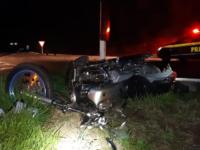 Acidente deixa motociclista ferido na BR-392 em São Sepé