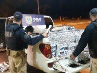PRF apreende carga de cigarro, recupera veículo roubado e prende criminoso em Santa Maria