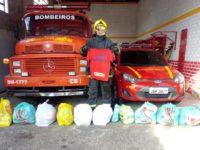 Bombeiros de São Sepé fazem mais uma entrega de cestas básicas para ex-alunos