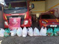 Bombeiros de São Sepé doam cestas básicas para famílias de ex-alunos