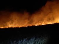 Incêndio atinge campo próximo à BR-392 em São Sepé