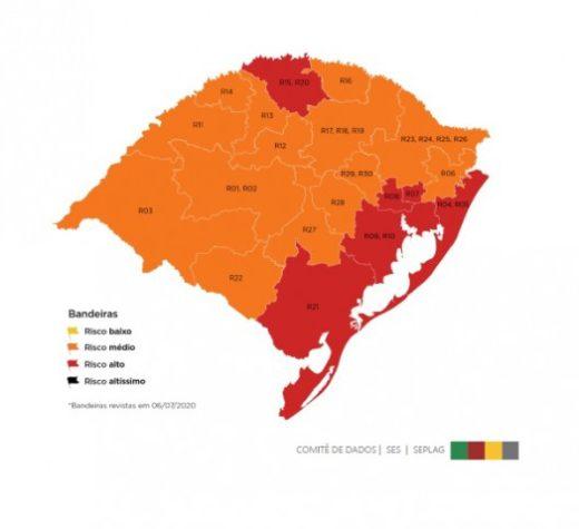 Nona semana do Distanciamento Controlado fica com seis regiões em vermelho