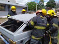 Bombeiros e SAMU realizam treinamento com simulação em São Sepé
