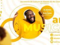 Projeto Arte Musical começa neste sábado com show online