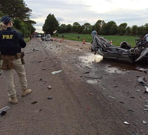 Acidente envolve quatro veículos na BR-158 em Itaara