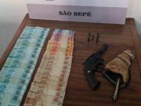 Jovem é preso após furto de R$ 2,3 mil de idoso em São Sepé