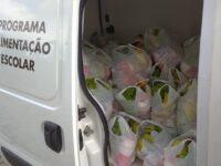 Alunos das escolas municipais de Formigueiro recebem kits de alimentação