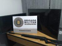 Brigada Militar flagra trio e recupera objetos furtados