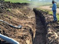 Obra emergencial em barragem permite retomada de irrigação de lavouras de arroz em Cachoeira do Sul