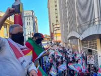 Prefeito de São Sepé esteve em ato contra privatização da Corsan