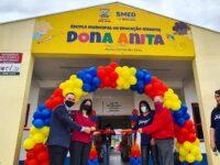 Cerimônia marcou a abertura oficial de creche no Bairro Lôndero